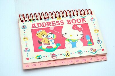 Vintage Sanrio Hello Kitty Teddy Bear Address Book*Japan 1987
