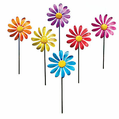 Spring Daisy Yard Spinner Stakes - Set of 6