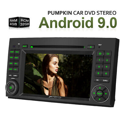 Pumpkin Android 9.0 Car Stereo DVD GPS DAB 4GB 32GB For Benz A/B Class W169 W639