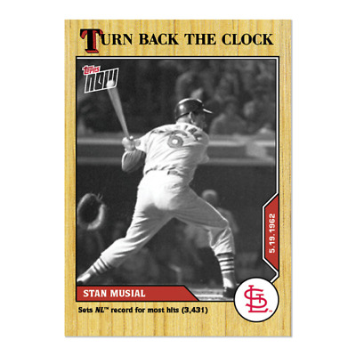 2020 MLB TOPPS NOW Turn Back the Clock #50 Stan Musial St. Louis Cardinals