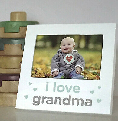 Tiny Ideas I Love Grandma Picture Frame & Matching Belly Sticker