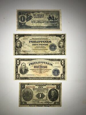 World War II Pacific Philippines Short Snorters Currency Lot