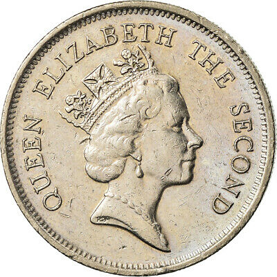 [#759635] Coin, Hong Kong, Elizabeth II, Dollar, 1988, EF, Copper-nickel, KM:63