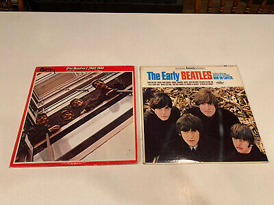 The Early Beatles And The Beatles 1962-1966 Red  Lot Of 2