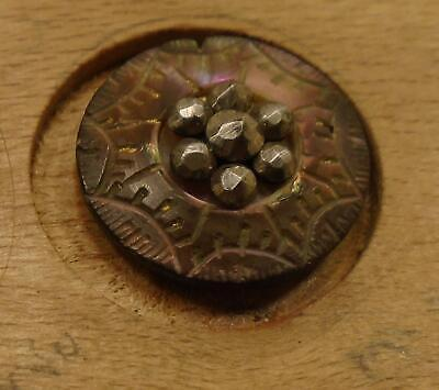 """WOW 5/8"""" Carved  Pearl Antique Button 33:27"""