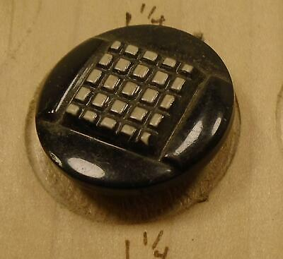 """WOW 1 1/8"""" Black and Cream  Celluloid Antique Button 37:13"""