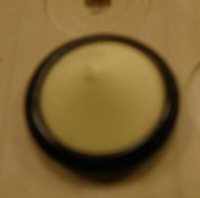 """WOW 1"""" Black and Cream  Celluloid Antique Button 37:40"""