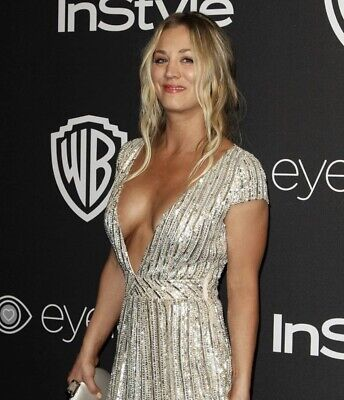 Kaley Cuoco -Wearing A Dress That Is Real Busty !!!