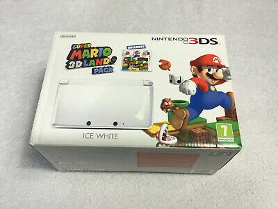 Nintendo Super Mario 3D Land Pack Ice White Empty Console Box Only PAL UK