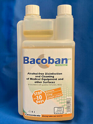Bacoban WB Disinfectant Cleaner concentrate 1 Litre - 10 day disinfecting effect