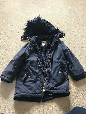 Girls Blue Coat 6-7 Years From H&M