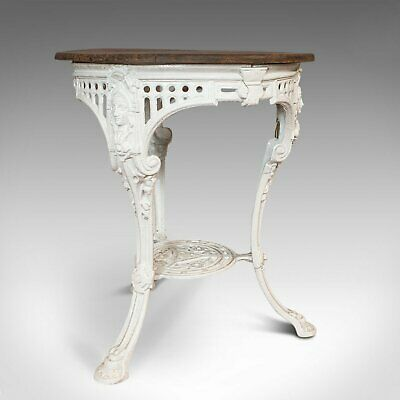 Antique Britannia Table, English, Cast Iron, Cedar, Garden, Outdoor, Victorian