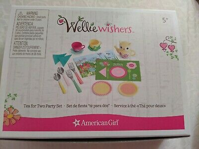 American Girl AG Tea for Two Party Set Wellie Wishers NIB Adorable!