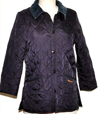 Barbour Childrens Liddesdale New Quilted Jacket Size M  Blue