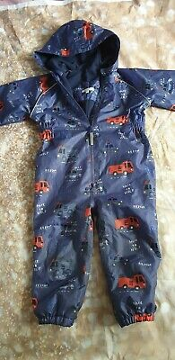 Boys  All In One Waterproof, Puddle Suit Size 2-3 Years. Blue zoo. Debenhams