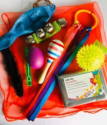 Sensory Play 10 Item Bundle. Baby Gift, Newborn, Baby Shower, SEN Toys, Basket