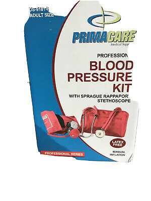 Primacare Medical Supplies DS-9181-R Red Professional Blood Pressure Kit with