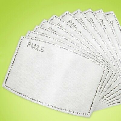 UK STOCK 10 PPE Filter Adults KIDS  Filter PM 2.5 Carbon Layered