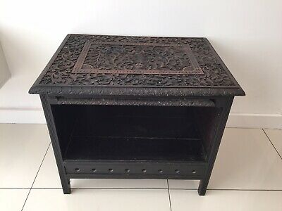 Old Antique Indian? Hand Carved Oak Table