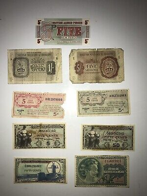 Military Payment Certificates Lot Currency