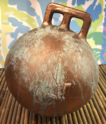 "Vintage 8"" Authentic Fishing Float Bouy Ball With Handle"