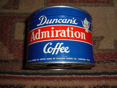 NOS Vintage Duncans Admiration Coffee Can Sealed Unopened