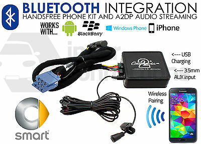 Smart Auto Bluetooth Streaming Vivavoce Chiamate CTAMSBT001 Aux USB IPHONE