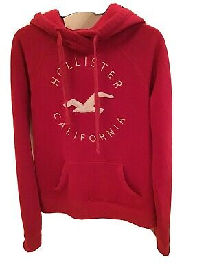 Hollister Girls Red Hoodie Size Xs Good Condition