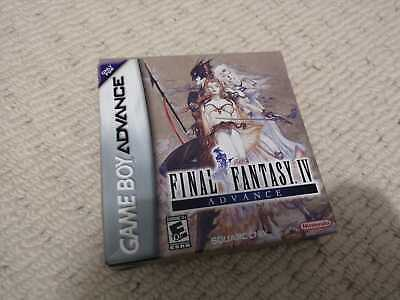 LIKE NEW - Final Fantasy IV GBA Complete (Nintendo Game Boy Advance, 2005)