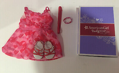 American Girl Truly Me Red Hearts Ruffle Dress Outfit. Retired Exclusive Outfit!