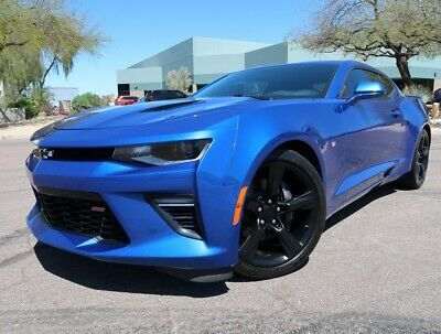 2017 Chevrolet Camaro SS Coupe 2SS Hyper Blue Metallic Coupe Automatic Highly Optioned 2019 2018 2016 SS