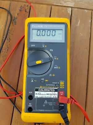 Fluke multimeter 79 Series II With Spare Leads Calibrated 2015