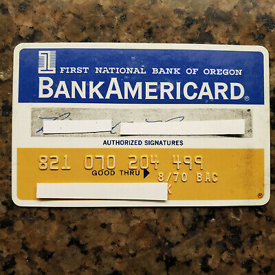 Vintage BankAmericard Credit Card  First National Bank of Oregon Expired 1970