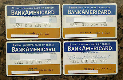 Vintage BankAmericard Credit Card  First National Bank of Oregon Exp 74 75 76 77