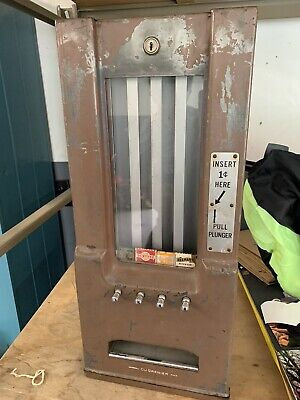 Adams DuGrenier Gum  1 Cent  Coin Operated Vending Machine