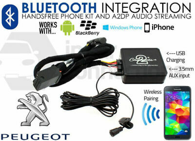 Peugeot 407 2005 Bluetooth Musica Streaming Vivavoce Chiamate Aux IPHONE Adapter