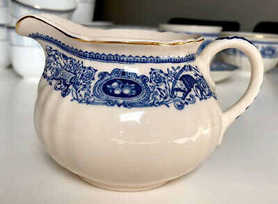 Authentic Mulberry Home Longton Hall Blue Milk Jug