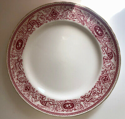 Authentic Mulberry Home Longton Hall Red Medium Side Plate