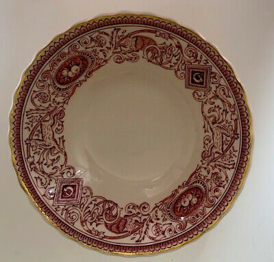 Authentic Mulberry Home Longton Hall Red Bowl