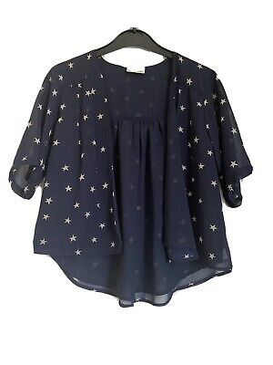 Gorgeous Girls Next Navy & Cream Star Kimono Jacket Age 7 Years