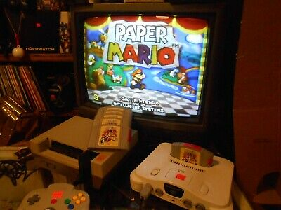 Paper Mario Nintendo 64 N64 RPG Game Authentic & Tested Super Mario RPG Sequel