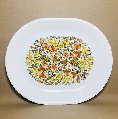 "Corelle Corning • Indian Summer • 12"" Wildflowers Oval Serving Platter MINT"