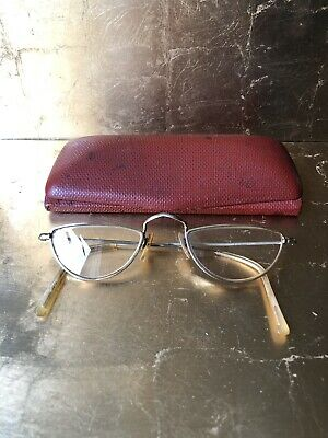 Antique 12Kt Gold Framed Spectacles Optician C. W Dixey & Son,London & Provinces