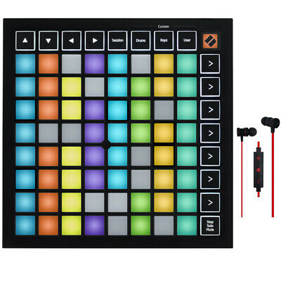 Novation Launchpad Mini MK3 Grid Controller for Ableton Live with Headphones