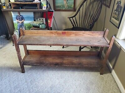 Rare wooden 1934 Nabisco National Biscuit Company Display Rack Shelf