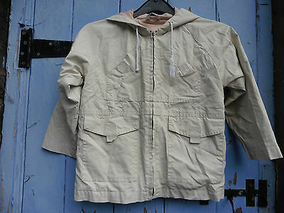 Vintage Girls Rain Jacket age 4-5 Cream Lined Good Con. George at Asda