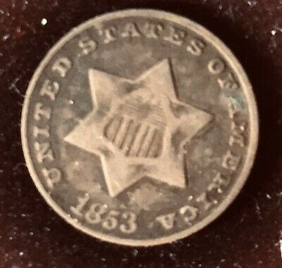 1853 Three-Cent Silver (Trime), Very Fine