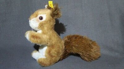 Steiff Possy Red Squirrel Mohair Plush 8.5in Metal Tag Vintage Made in Germany