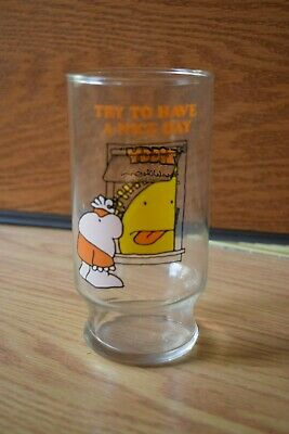 1979 Hardee's Restaurant Ziggy Cartoon Glass - Try To Have A Nice Day