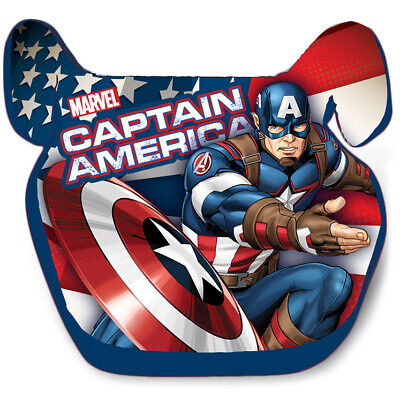 CAPTAIN AMERICA Boys Car booster seat Group 2/3 Age 3-12 years 15-36kg